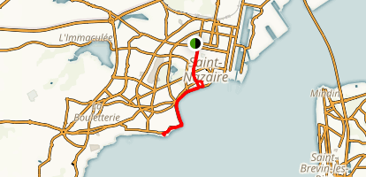 Saint-Nazaire City Walk Map