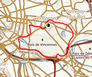 Vincennes Loop Trail Map