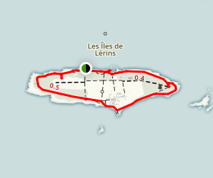 Île Saint-Honorat Map