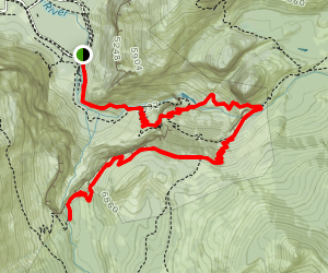 Vernal, Nevada, and Illilouette Fall Route Map
