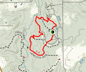 Hemlock and Wildflower Loop Trail Map