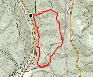 South Fork to Rhododendron to Cathedral to Foothill Loop Map