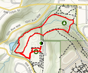 Shoreview and Boeing Creek Loop Map