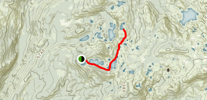 Crooked Lakes Trail to Penner Lake Map