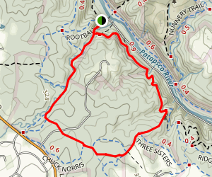 Cascade Falls, Lewis and Clark, Old Track, Morning Choice, Valley View Trail Map