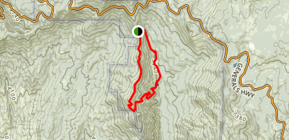 Sugar Bowl - Redwood Creek Loop Map