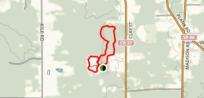 Planetary Trail, Woodland Loop and Nassau Connector Trail Map