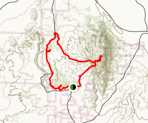 West Butte, Wind Caves, Slot Loop Trail  Map