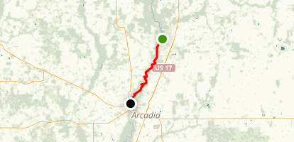 Peace River Canoe Route Map