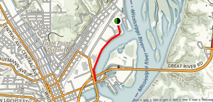 Floodwall Trail - North Section Map