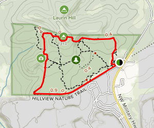 Hillview Nature Trail Loop Map