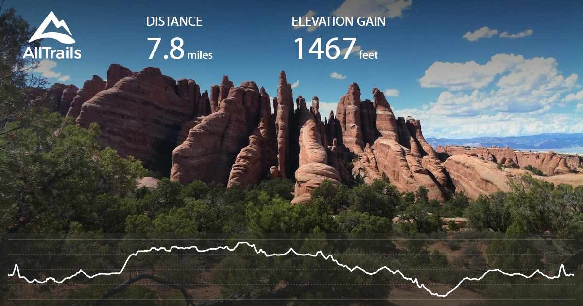 Devils Garden Loop Trail With 7 Arches Utah Maps 773