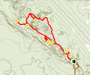Devils Garden Loop Trail with 7 Arches Map