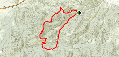 Grizzly Gulch to Ridge Trail Loop Map