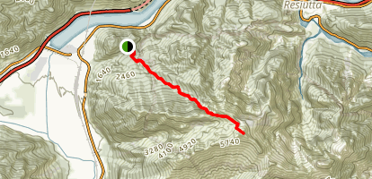Monte Plauris from Tugliezzo Map