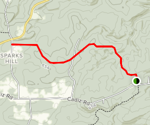 Camp Cadiz Area Trails Map