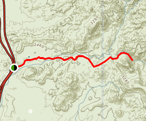 New River Trail Via West Table Mesa Road Map
