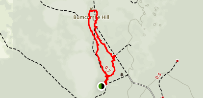 Buncombe Hill Hiking Trail Map