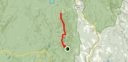 Deerfield Ridge Trail from Haystack to Mount Snow Map