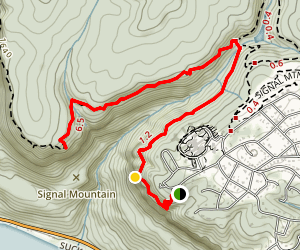 Signal Point Trail via Signal Point Park Map
