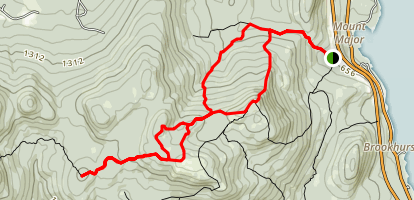 Mount Major and Mount Anna Trail Map