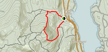 Mount Major Southern Loop Trail Map