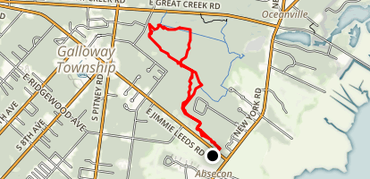 The Jersey Devil Run Map