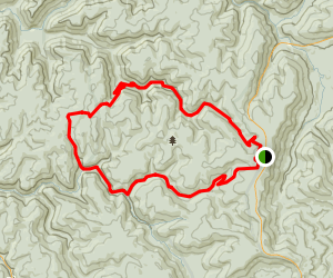 North Fork Trail to Middle Fork Trail Loop Map