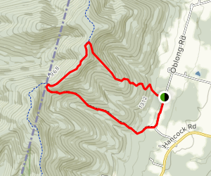 Phelps Trail to the Taconic Crest Trail down the Mills Hollow Trail Map