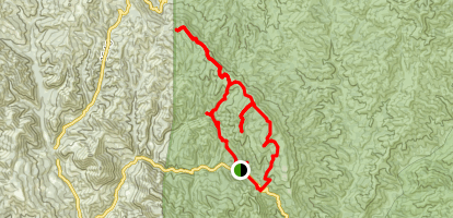 Colson Canyon Loop Trail Map