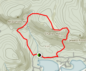 McDaniels Hill Trail Map