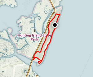 Hunting Island Loop Map