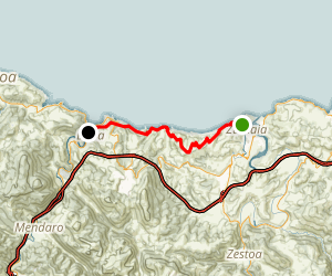 Zumaia to Deba Map