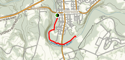 Blairsville River Front Trail Map