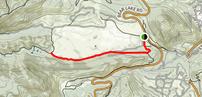 South Lateral Moraine Trail Map