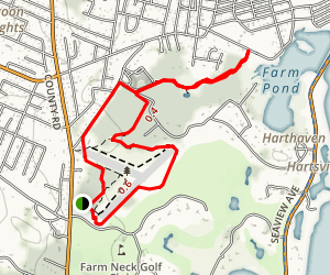 Trade Wind Fields and Farm Pond Preserves Loop Trail Map