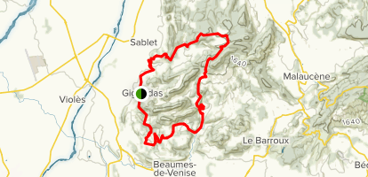 Dentelles de Montmirail Trail Map