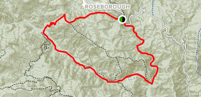 Lost Cove Creek and Bee Mountain Loop Trail Map