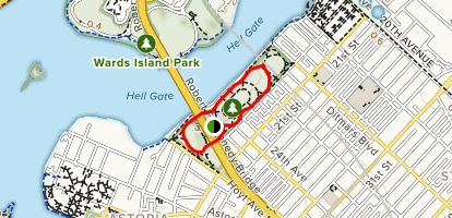 Astoria Park Loop Trail Map
