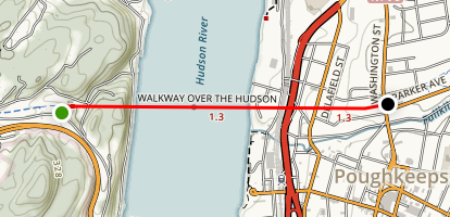 Walkway Over the Hudson Map