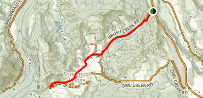 Brush Creek Trail Map