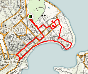 Dar Es Salaam Walking Tour Map