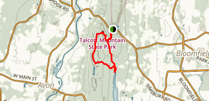 Talcott Mountain State Park Loop Trail Map