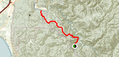 Little Bald Hills Trail Map