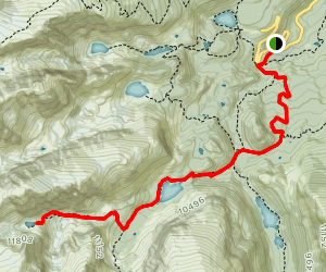 Andrews Tarn and Andrews Glacier Trail Map