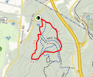 Rockleigh Woods Yellow Loop Trail Map