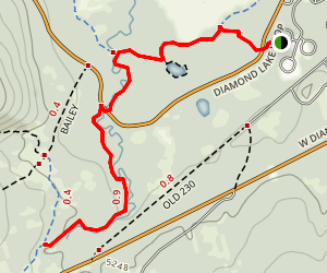 Silent Creek Snowshoe Trail Map