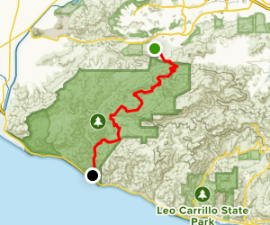 Old Boney and Serrano Canyon Trail Map