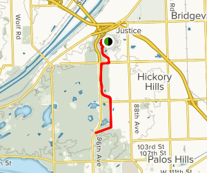 Palos Brown Unpaved Trail Map
