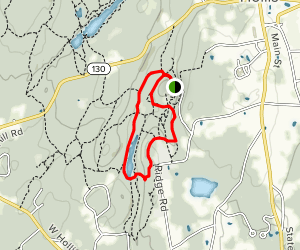 Elkins Road to Eastman Meadow and Maple Ridge Trail  Map